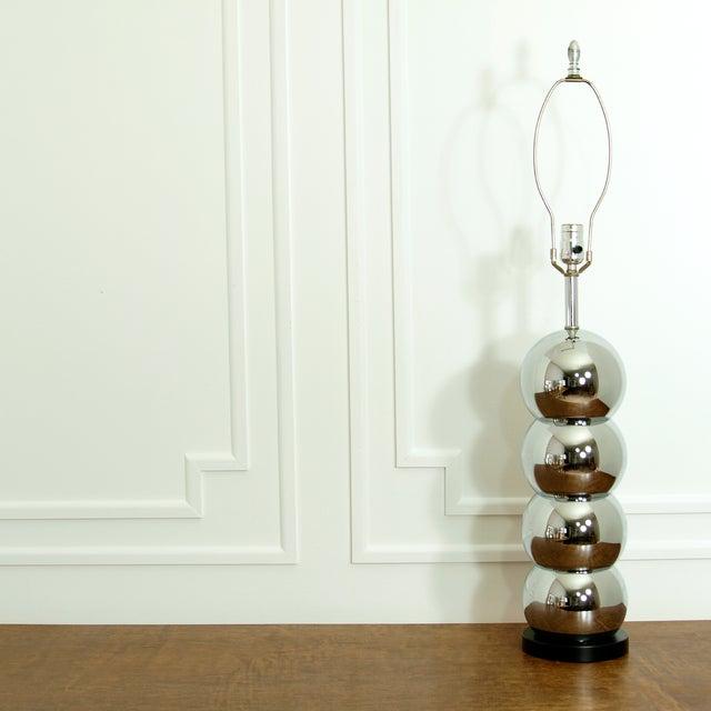 Image of 4 Ball Chrome Vintage Table Lamp