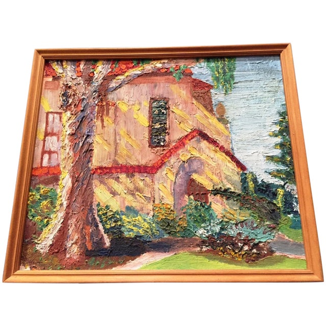 Painting of House by G. Dudfield - Image 1 of 3