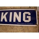 Image of Vintage No Smoking Porcelain Sign