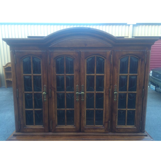 Burlington House Solid Wood Buffet with Hutch - Image 7 of 8