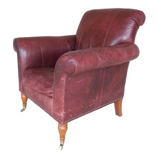 Lillian August Leather Lounge Chair for Drexel