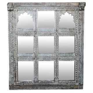 Multi-panel Durbar Carved Window Mirror