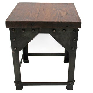 Reclaimed Wood & Iron Side Table