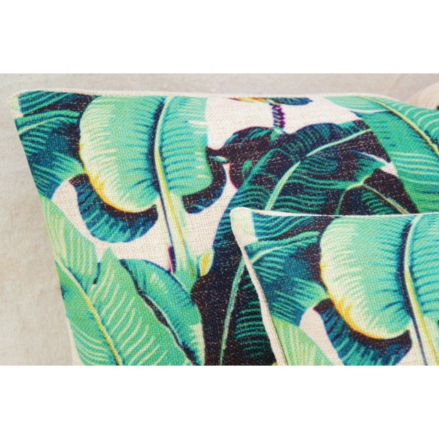 Dorothy Draper-Style Banana Leaf Pillows - A Pair - Image 9 of 11