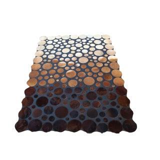 "Handmade Leather & Cowhide Rug - 5'5"" x 7'7"""