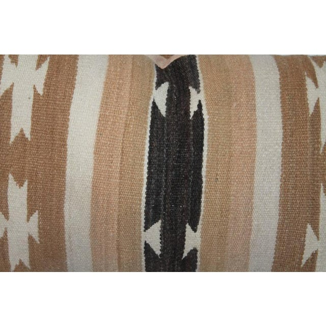 Image of Pair of Chinle Navajo Indian Weaving Bolster Pillows
