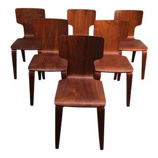 West Elm Stackable Bentwood Dining Chairs - Set of Six
