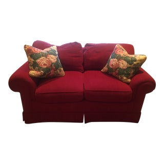 Traditional Red Settee