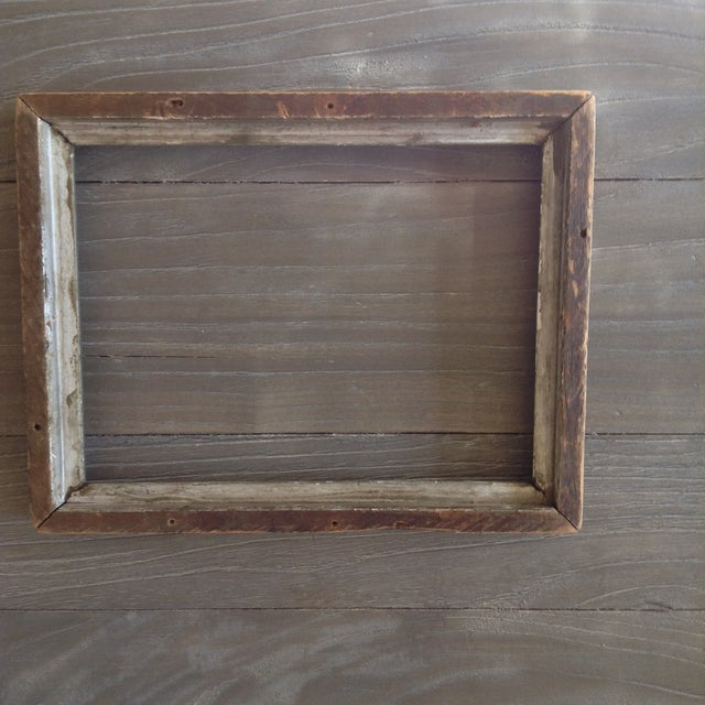 Image of Vintage Gray Wood Frame