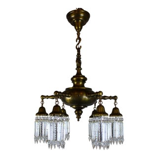 6 light Sheffield Pattern Crystal Fixture