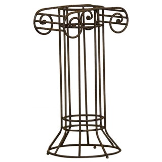 Iron Column with Open Rim Work and the Original Oxidized Finish from France c.1910