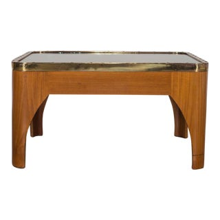 Nautical Brass Yacht Window Mounted as a Coffee Table English circa 1940