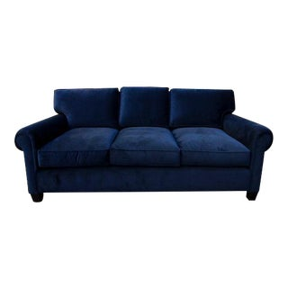 Perch Furniture Hudson Navy Blue Velvet Sofa