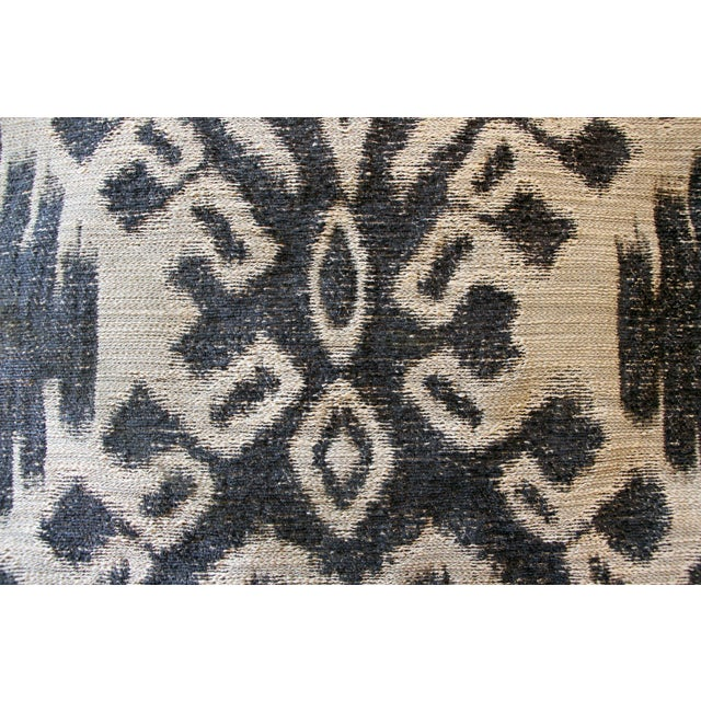 Indigo & Grey Woven Ikat Pillow - Image 4 of 4