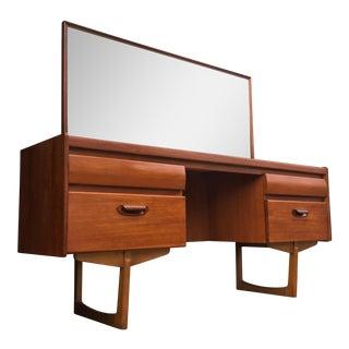 Mid-Century Modern Teak Vanity & Mirror