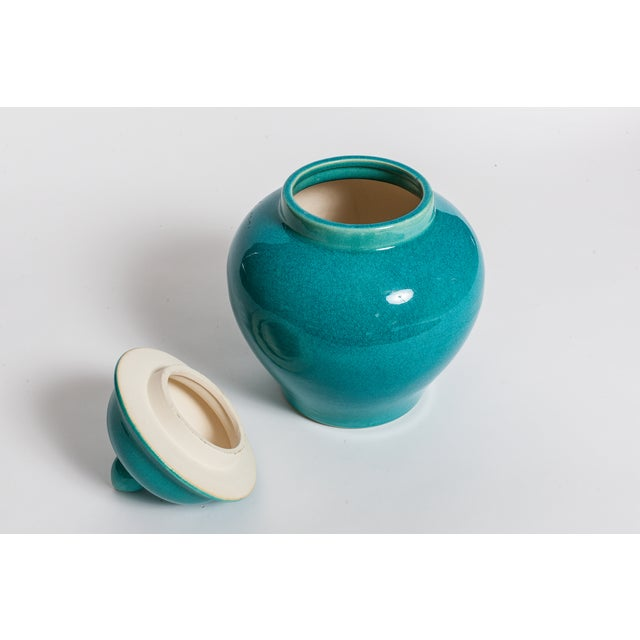 Turquoise Blue Urns - A Pair - Image 5 of 5