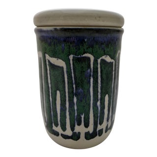 Mid-Century Abstract Studio Pottery Jar