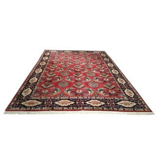 Traditional Hand Made Knotted Rug - 10′ × 14′
