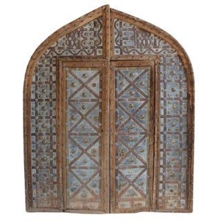Rustic Antique Metal Work Indian Door