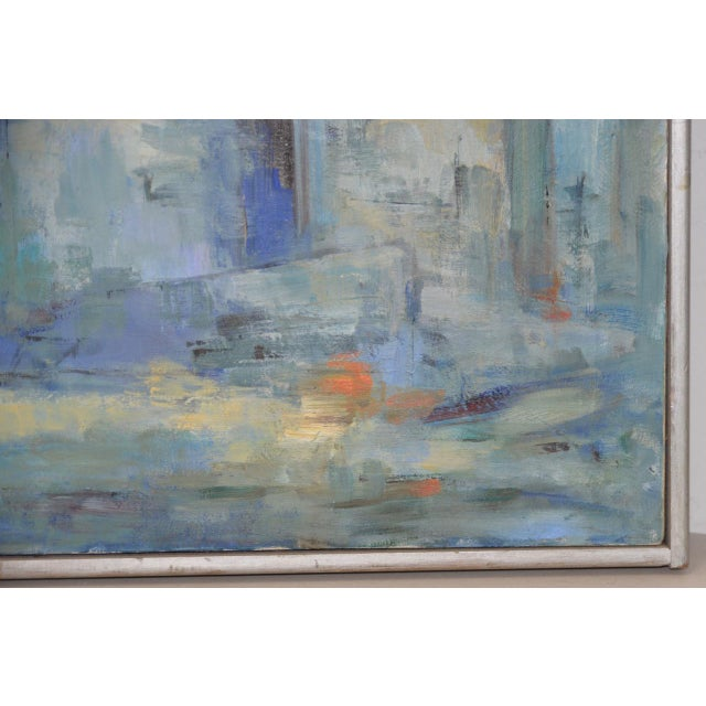 Mid Century Modern Abstract Cityscape by Mary Carey c.1950s - Image 4 of 7