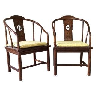 Henredon Horseshoe-Back Chairs - A Pair