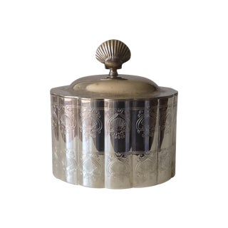 Silver Plated Moorish Lidded Candle Holder