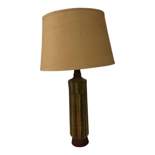 Bitossi Raymor Ceramic & Teak Table Lamp