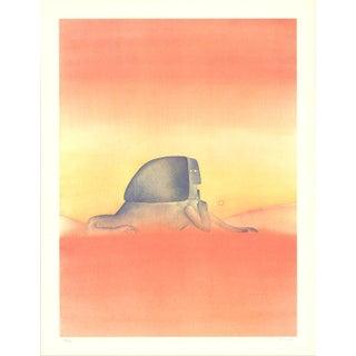 "Jean-Michel Folon ""Sphinx"" Signed Lithograph"