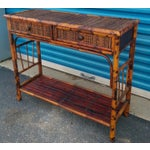 Image of Bamboo & Reed 2-Drawer Console Table