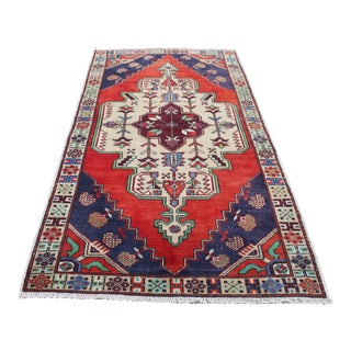 Vintage Turkish Tribal Rug - 4′5″ × 8′5″