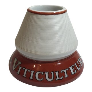 French Ceramic Matchstick Holder & Striker