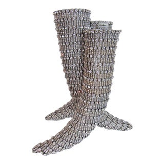 Winn Las Vegas Applied Crystal Three Horn Vase