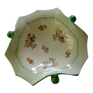Vintage Japanese Floral Serving Dish