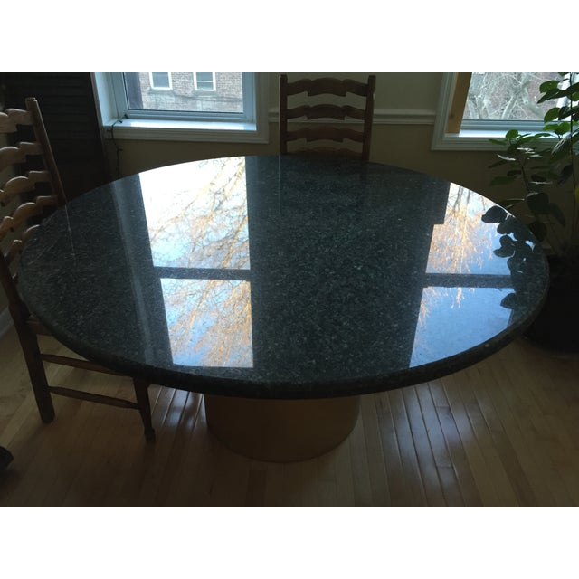 pure granite dining room table chairish