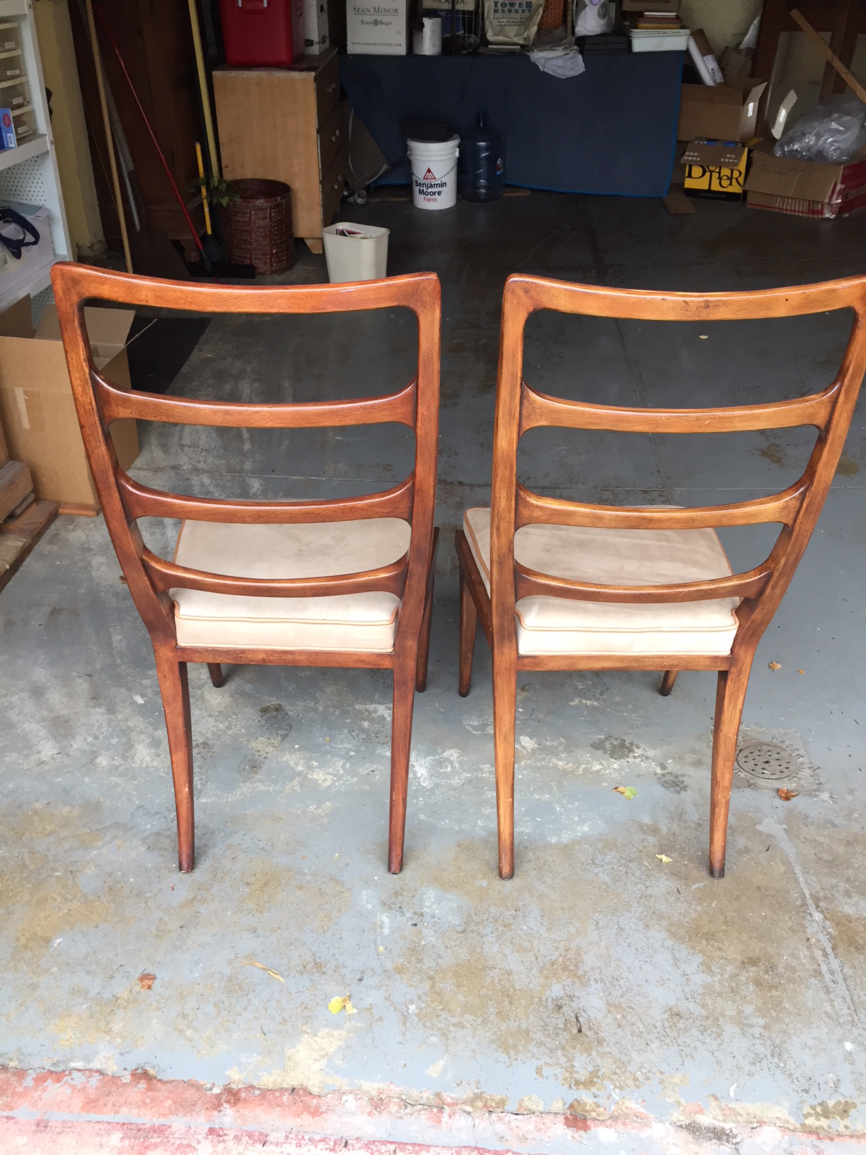 Keno Bros. For Theodore Alexander Mid Century Ladderback Chairs   A Pair    Image