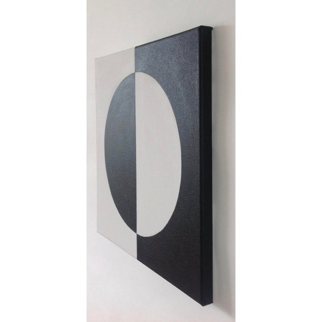 Image of Modern Mirror Black & White Painting