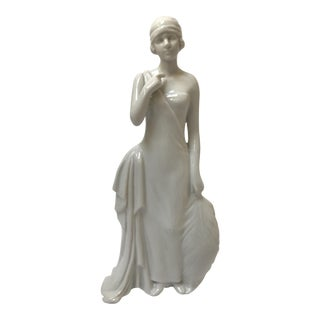 Art Deco Flapper Woman Statue