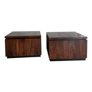 Mid-Century Milo Baughman for Dillingham Side Tables - A Pair