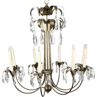 Brass Palm Leaf Chandelier