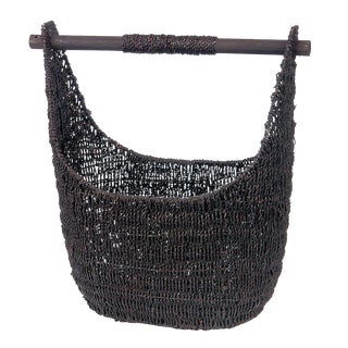 Balinese Black Seagrass Large Basket