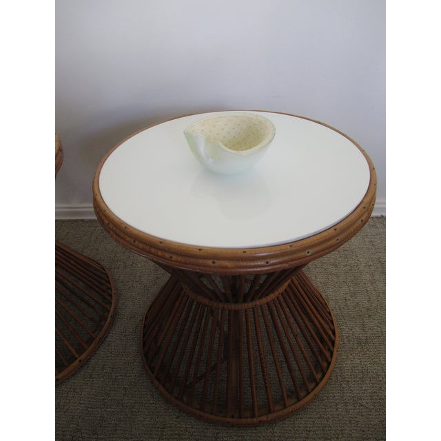 Franco Albini-Style Rattan Side Tables - A Pair - Image 8 of 8