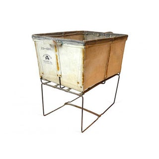 Large Industrial Canvas Laundry Bin