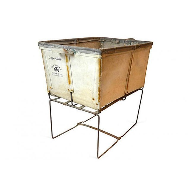 Large Industrial Canvas Laundry Bin - Image 1 of 6