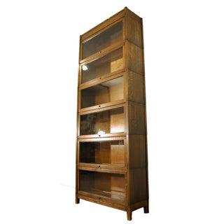 Antique Oak Gunn 6-Section Sectional/Barrister Bookcase