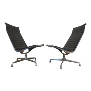 Eames Aluminum Lounge Chairs - A Pair