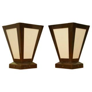 Two Hills Studio Craftsman Light Fixtures - A Pair