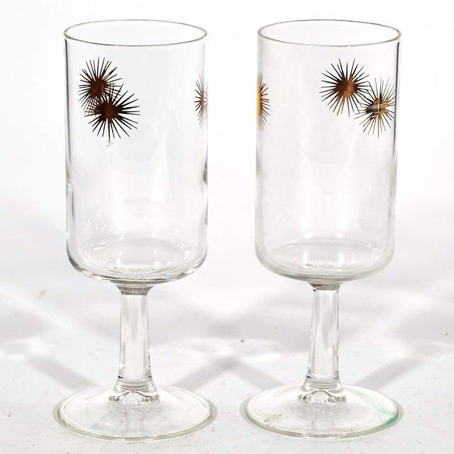 1960's Gilt Atomic Glass Stems - Set of 6 - Image 3 of 4