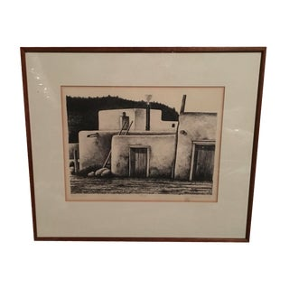 """Signed And Numbered Wendell Minor """"Taos Pueblo"""""""