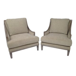 Designer Pair of Lounge Chairs - A Pair