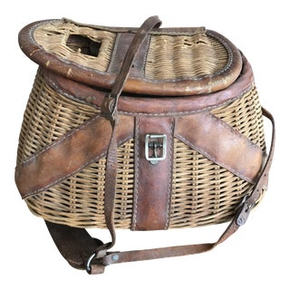 Vintage Fisherman's Creel Basket